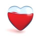 glass hjärta royaltyfri illustrationer