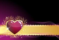glass hjärtapurple Arkivbild