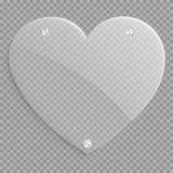 Glass hjärtasymbol royaltyfri illustrationer