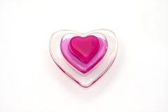 glass hjärtavalentin Arkivfoto