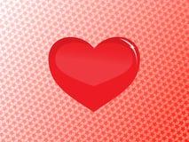 glass hjärtavektor Arkivbilder