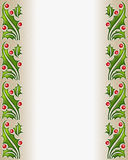 Glass holly border frame Stock Image