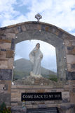 Glass holy shrine at croagh patrick Royalty Free Stock Photography