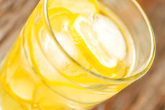 Glass of homemade lemonade angled close up Royalty Free Stock Photos