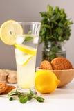 Glass of homemade lemonade Stock Photo
