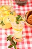 Glass of homemade lemonade Stock Image