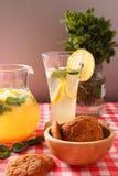 Glass of homemade lemonade Royalty Free Stock Photos
