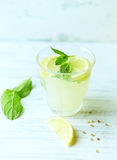 Glass of homemade lemonade Royalty Free Stock Image
