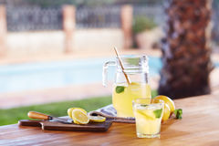 Glass of homemade lemonade Stock Images