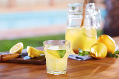 Glass of homemade lemonade Royalty Free Stock Photography