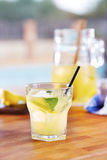 Glass of homemade lemonade Royalty Free Stock Photos