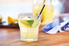 Glass of homemade lemonade Stock Photos