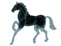 Glass horse silhouette Royalty Free Stock Photos
