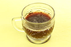 Glass of hot black coffee Royalty Free Stock Photography