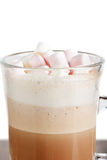 A glass of hot chocolate with marshmallows Stock Image