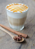 A glass of hot coffee Royalty Free Stock Photography