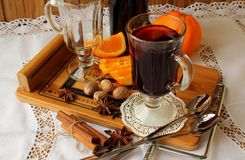 A glass of hot mulled wine Stock Image