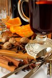 A glass of hot mulled wine Stock Images