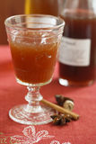 Glass of hot spicy punch Stock Photography
