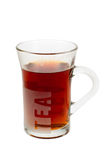 A glass of hot tea Stock Photo