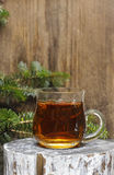Glass of hot tea Stock Photography