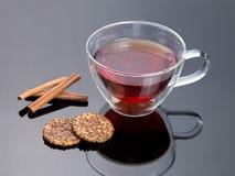 Glass of hot tea close up shoot Stock Photos