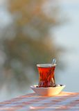 A Glass of Hot Turkish Tea Royalty Free Stock Photography