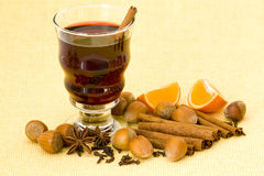 Glass of hot wine Royalty Free Stock Image