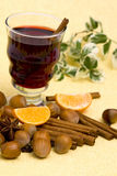 Glass of hot wine Royalty Free Stock Photography