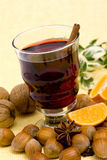 Glass of hot wine Royalty Free Stock Photo