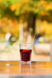 Glass of hot wine Stock Images