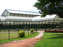 Glass house. The famous Glass House at the Lalbagh Botanical Garden at Bangalore City, India Stock Photos