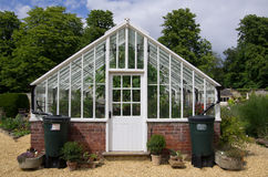 Glass House. A commercial greenhouse in a garden centre royalty free stock photography