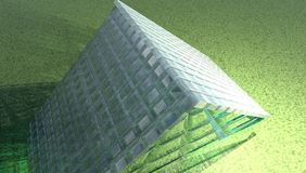 Glass house. 3D abstract structure resembling a glass house Royalty Free Stock Photo