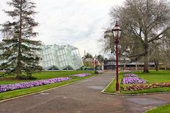 Glass house at botanical gardens Stock Photography