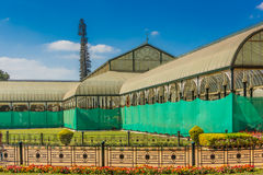 Glass House. Famous Glass House at the Lalbagh Botanical Garden in Bangalore City, India Royalty Free Stock Image