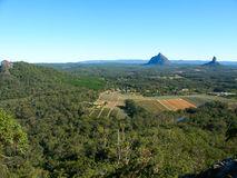 Glass House Mountains - Australia. View of the Glass House Mountains area of Queensland, Australia from Mount Tibrogargan Royalty Free Stock Image