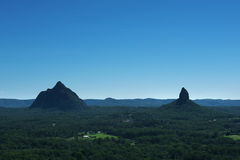 Glass House Mountains National park in Australia. Stock Photography