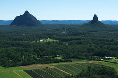 Glass House Mountains National park in Australia. Stock Image