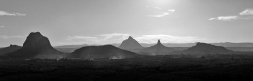 Glass House Mountains royalty free stock images