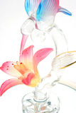 Glass Hummingbird and Flower Royalty Free Stock Images