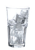 Glass with ice Stock Photos