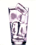 Glass with ice Royalty Free Stock Images