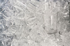Glass of ice Stock Image