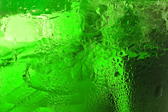 Glass with ice for background Stock Photo