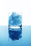 Glass with ice Stock Image