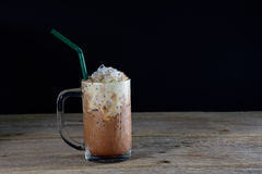 A glass of ice coffee Royalty Free Stock Images