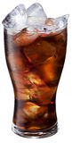 Glass of ice cola on white background. Stock Photography