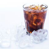 Glass of ice cold coke Royalty Free Stock Photo