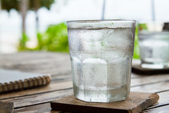 Glass of ice. Royalty Free Stock Image